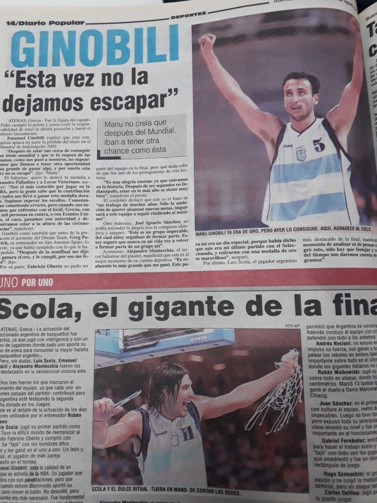 El día que Argentina alcanzó la gloria con Manu