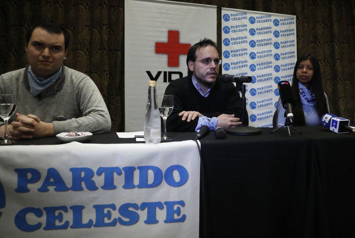 Presentaron el Partido Celeste, una agrupación anti legalización del aborto