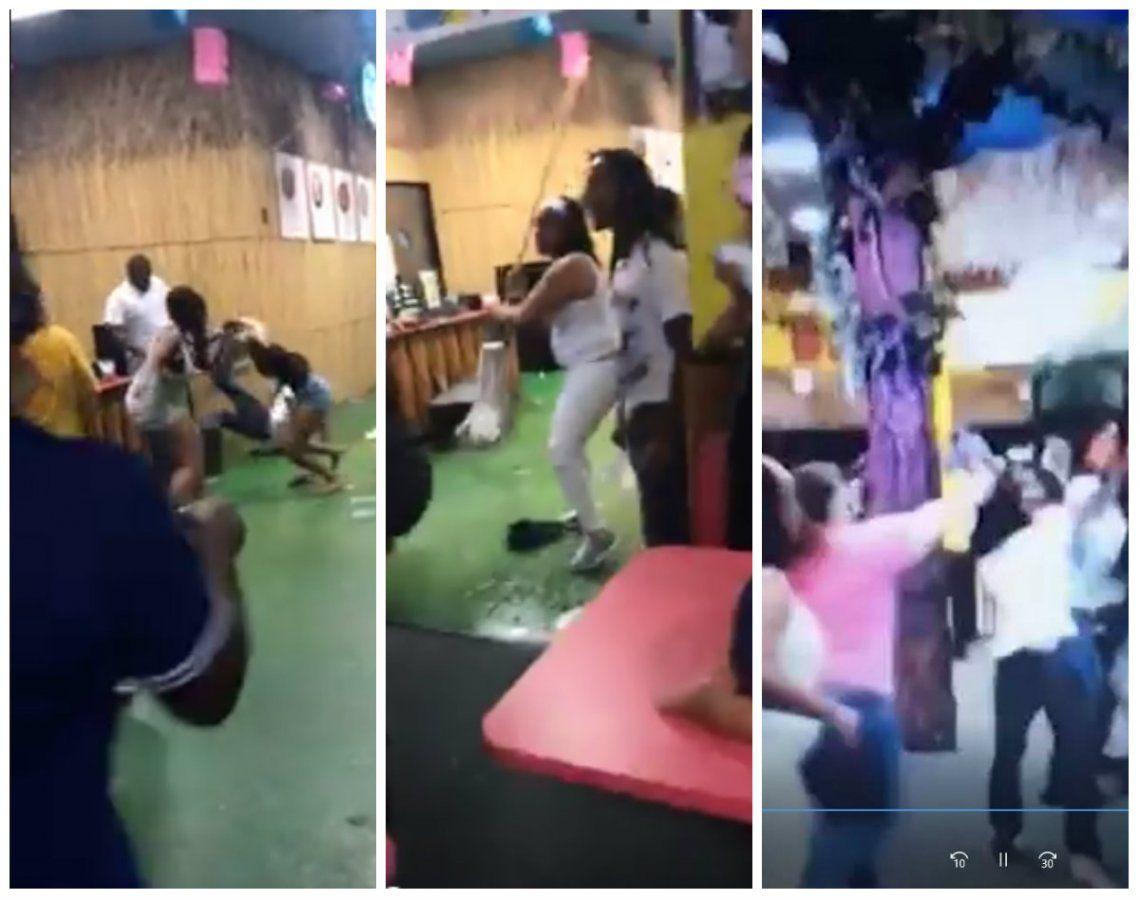 Video viral | Impactante batalla campal entre padres durante una fiesta infantil