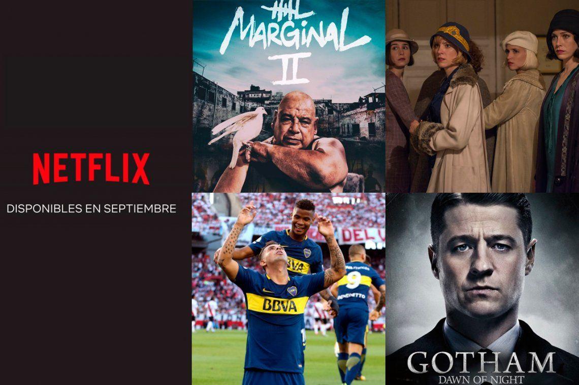 El Marginal 2, superhéroes varios y todos los estrenos de septiembre de Netflix