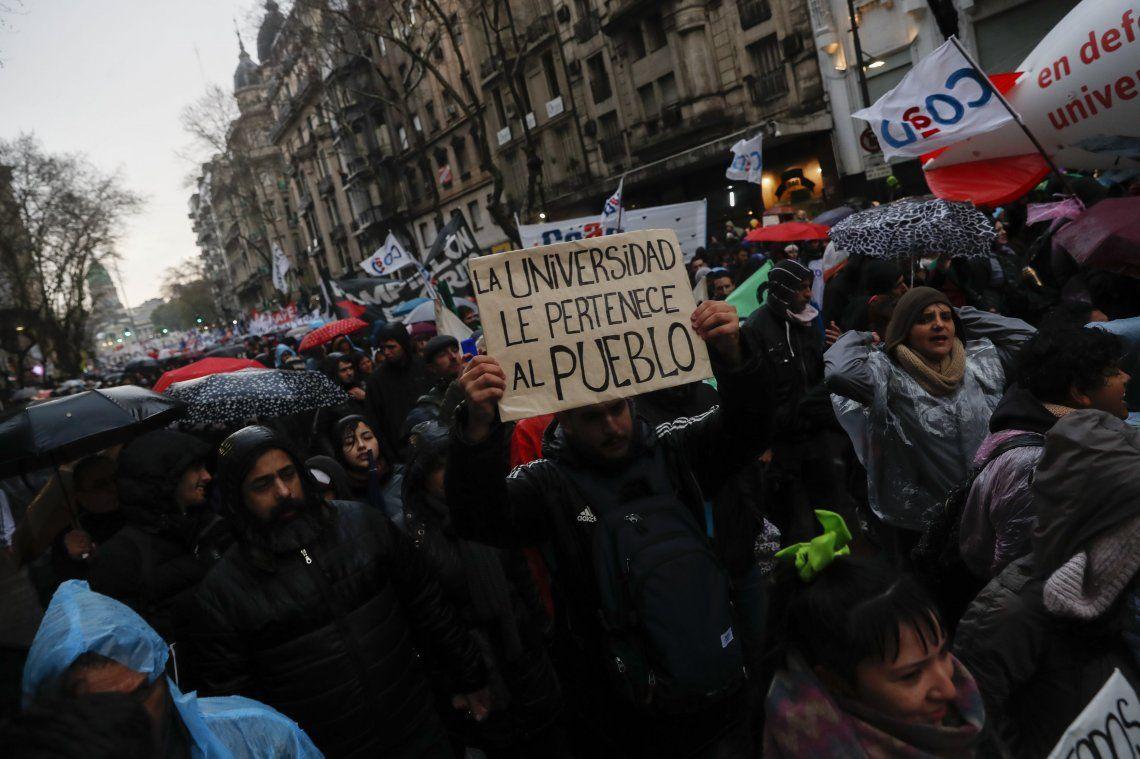 La marcha universitaria, en imágenes