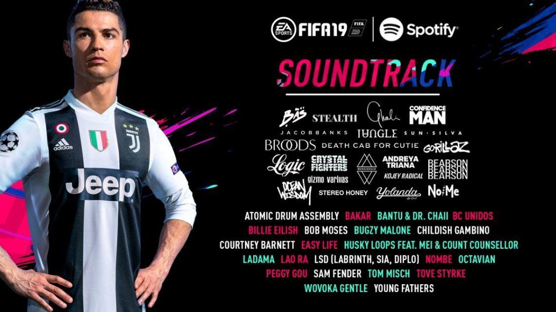 Qué bandas formarán parte del soundtrack de FIFA 19