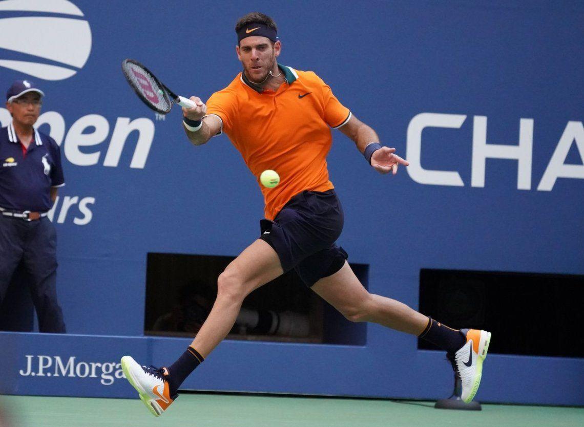US Open: Del Potro derrotó a Isner y jugará la semifinal ante Nadal