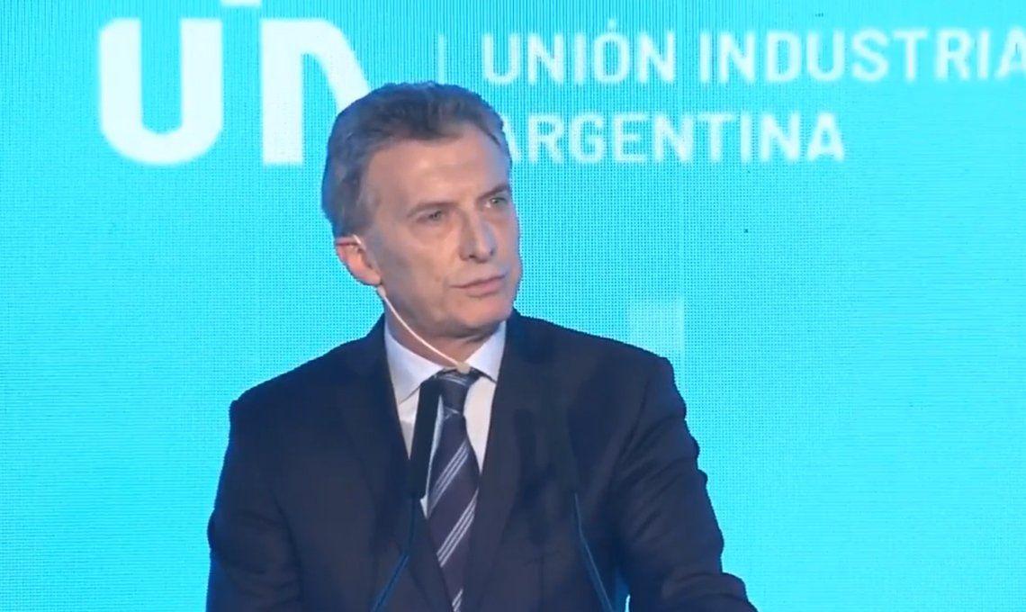 Macri en la UIA: Esto es una transición y una emergencia