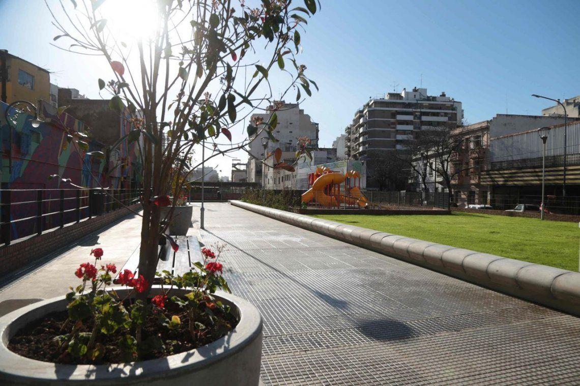 Rodríguez Larreta inauguró el Parque Lineal en Almagro