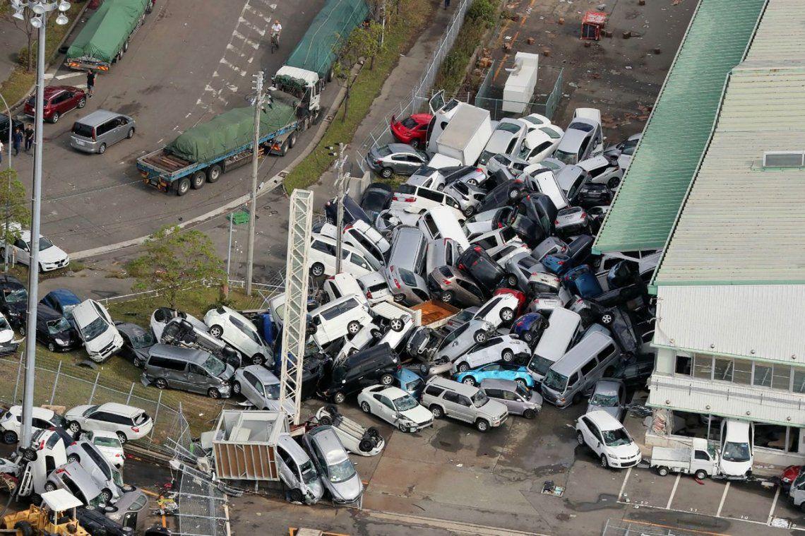 El paso del tifón Jebi por Japón, en fotos
