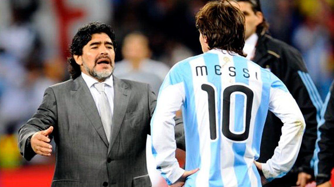 Maradona contra Messi: No puede ser caudillo un hombre que va 20 veces al baño antes de un partido