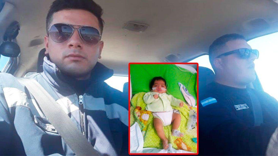 Policías héroes: salvaron la vida de un bebé con RCP en San Juan