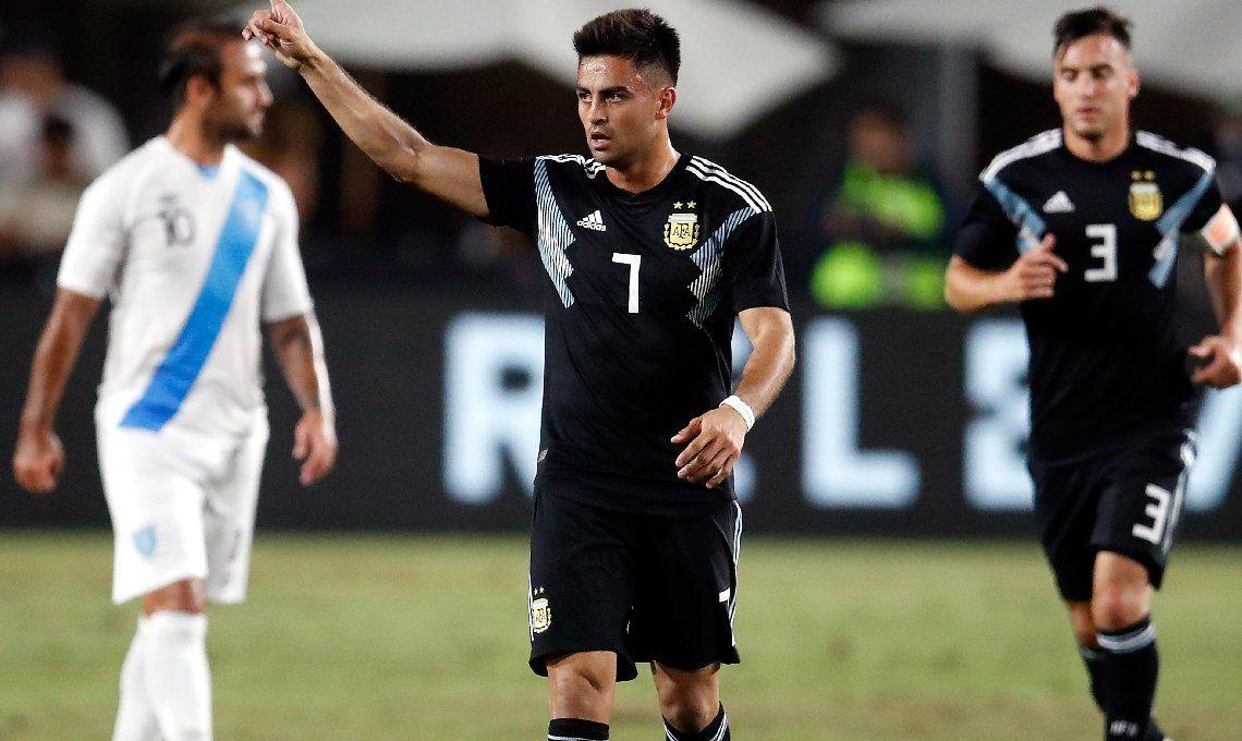 Argentina mostró una nueva cara y goles ante un débil rival