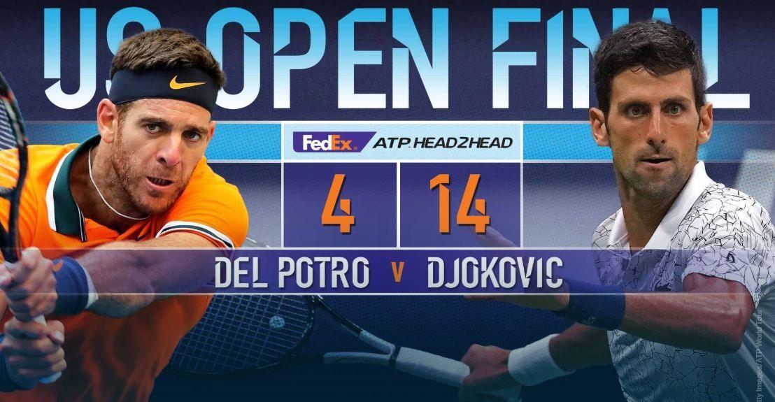 Cómo le fue a Del Potro todas las veces que enfrentó a Djokovic