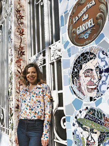 La Sonrisa De Gardel, el gran mural en mosaico
