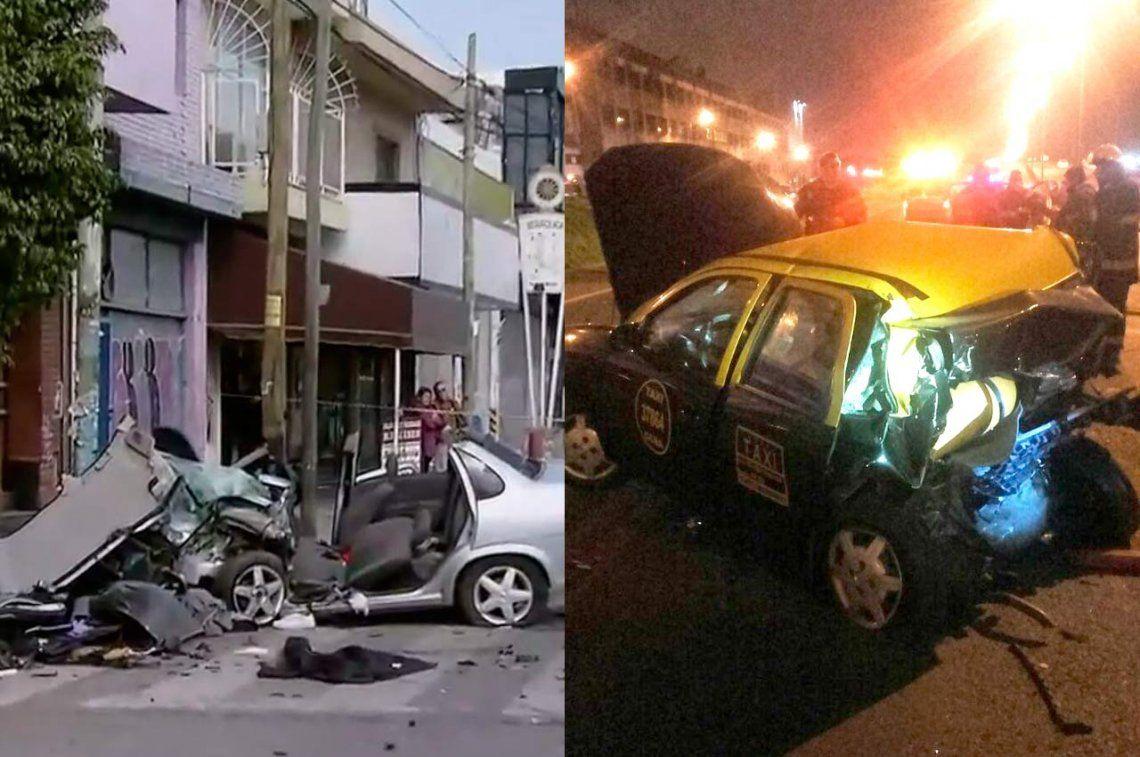 Madrugada fatal: dos choques dejaron 4 muertos en cuestión de horas