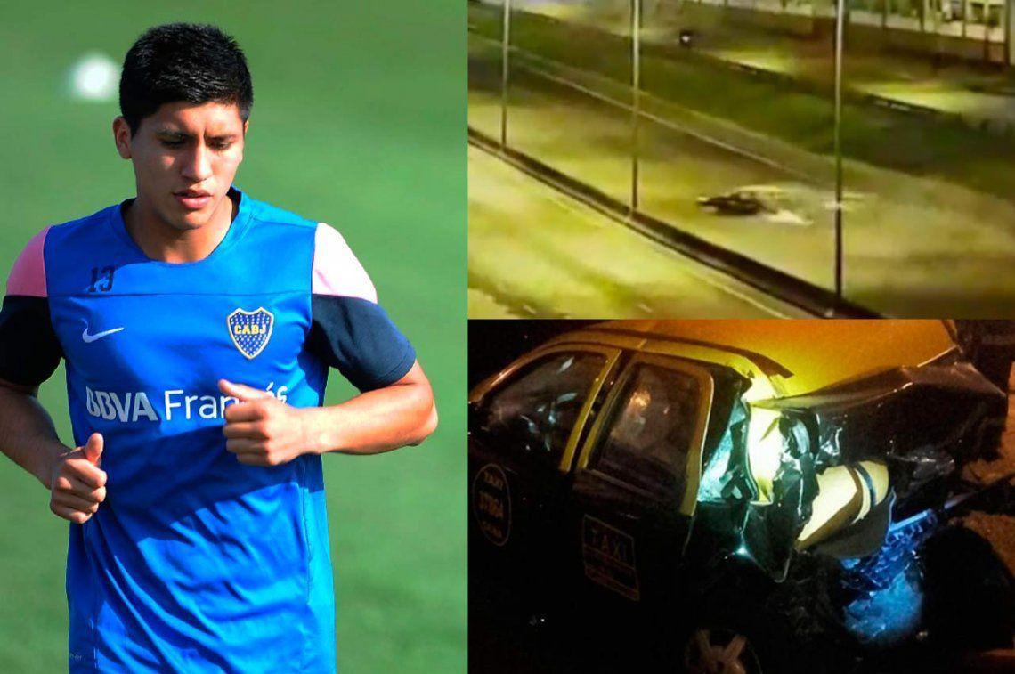 El video del choque fatal en Gral Paz: lo protagonizó el ex Boca Nahuel Zárate