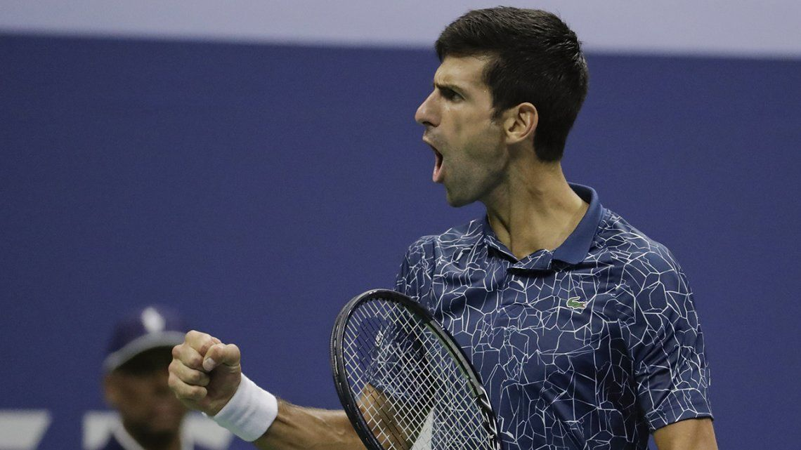 Las mejores fotos del duelo entre Del Potro y Djokovic