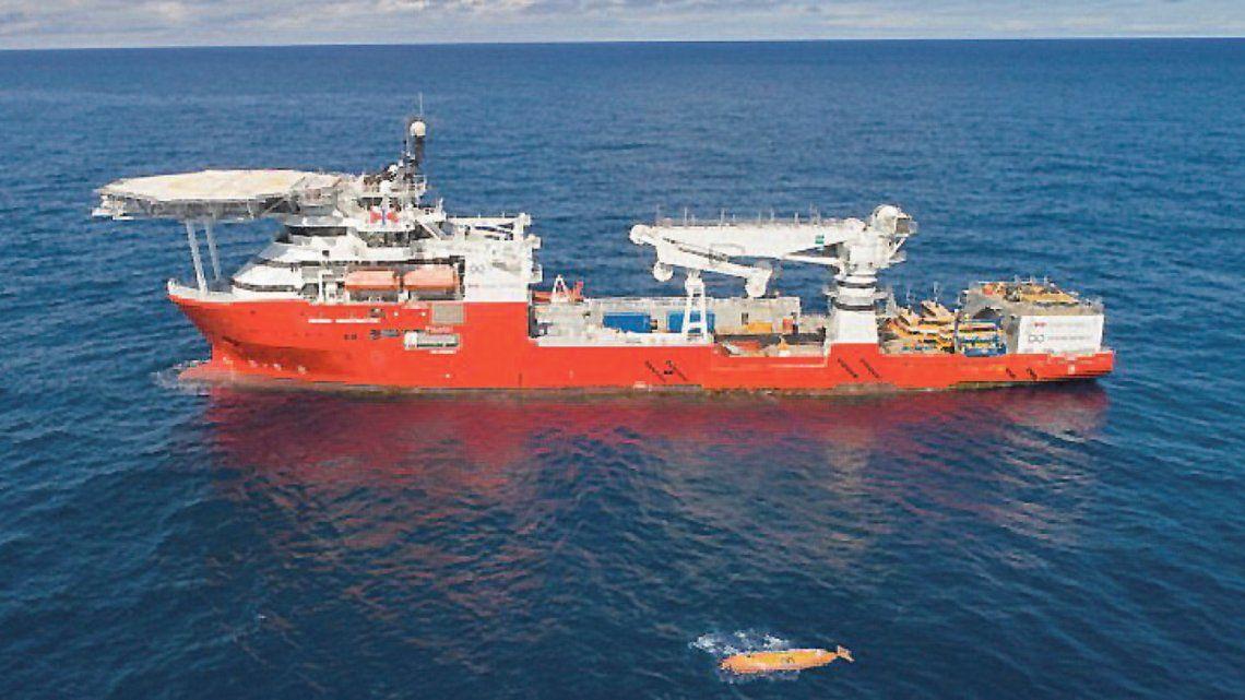 Submarino ARA San Juan: hay 2 vehículos remotos operando