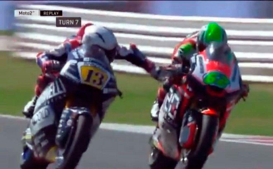 Apretó el freno de la moto de su rival y recibió una sanción ejemplar de su propio equipo