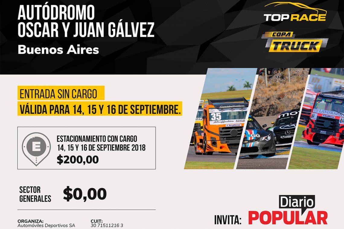 DIARIO POPULAR te invita al Gálvez a ver el Top Race y la Copa Truck