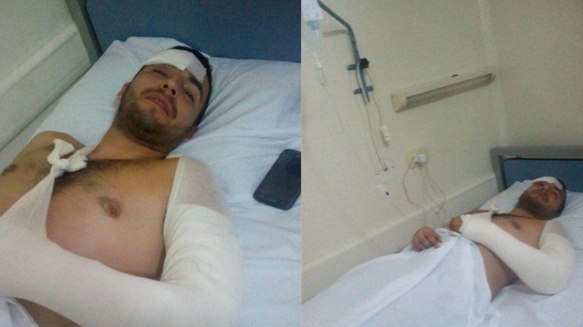Delincuentes balearon colectivo e hirieron a un joven trabajador
