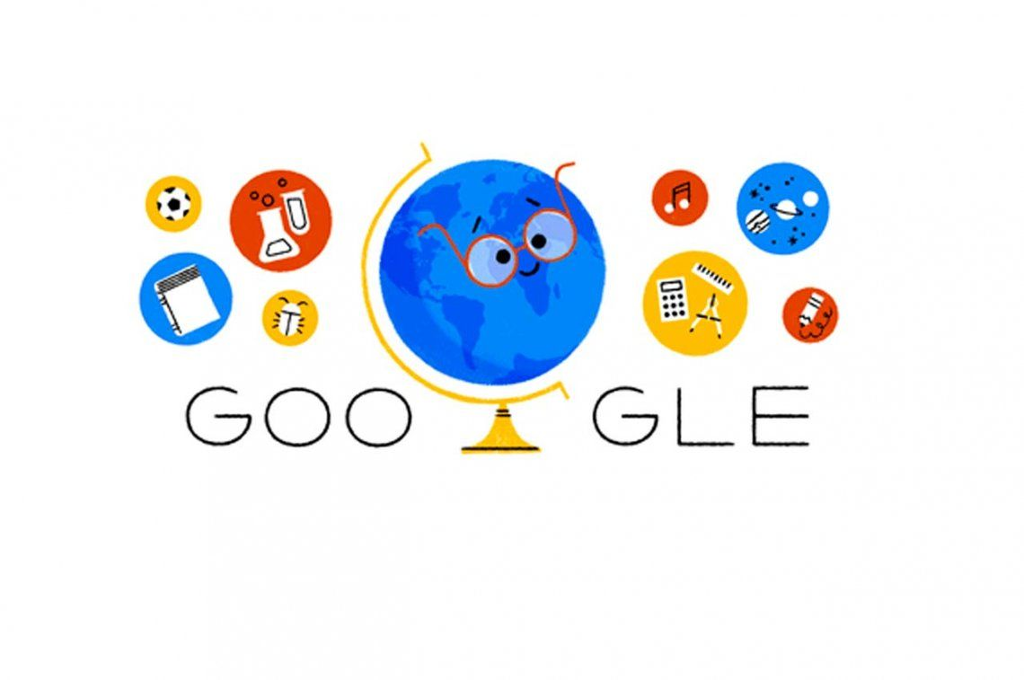 Google les desea feliz día a todos los maestros