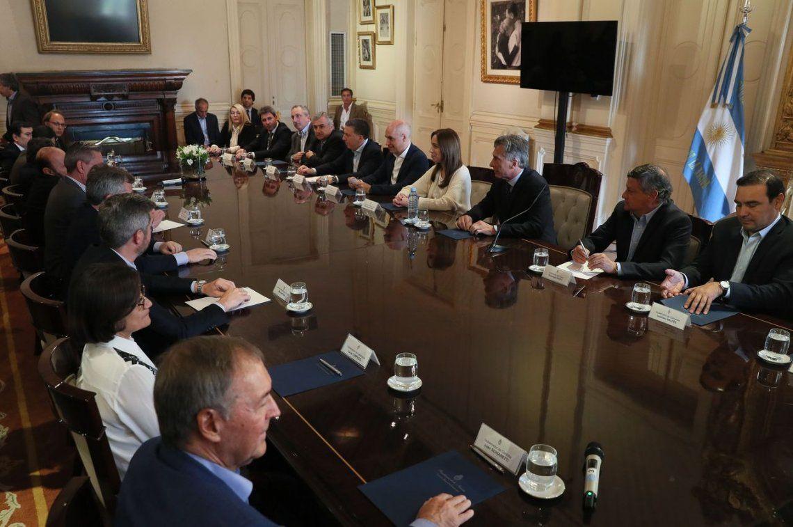 Macri recibió a gobernadores para tratar de cerrar el acuerdo por el Presupuesto 2019
