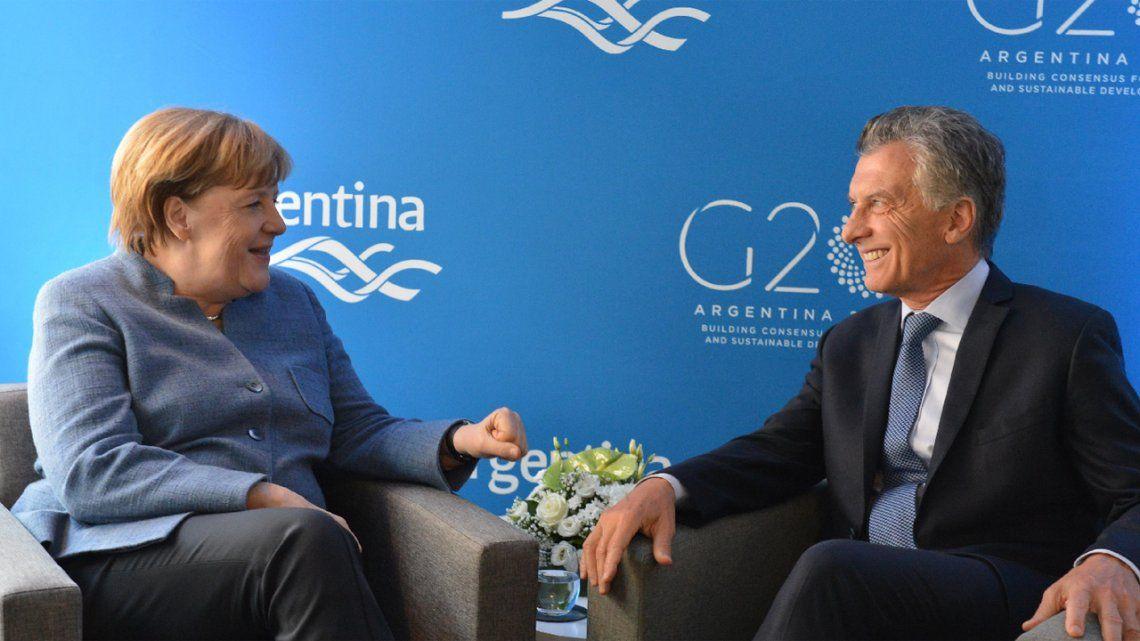 Macri habló 15 minutos con Merkel sobre el país, el FMI y el G20
