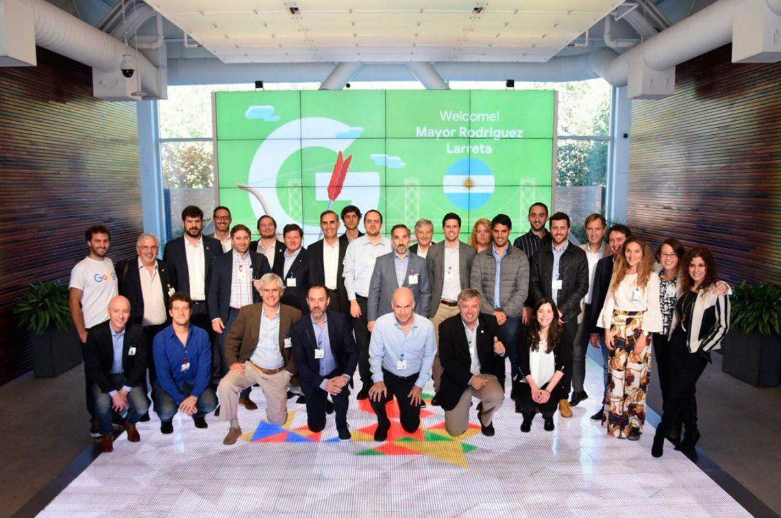 Horacio Rodríguez Larreta visitó la sede de Google en Silicon Valley