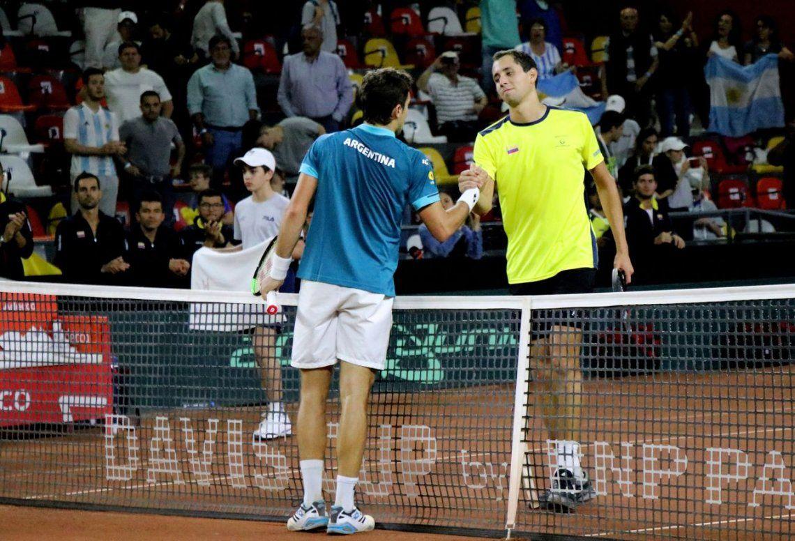Copa Davis: Pella y Schwartzman ganaron sus partidos y Argentina está arriba ante Colombia