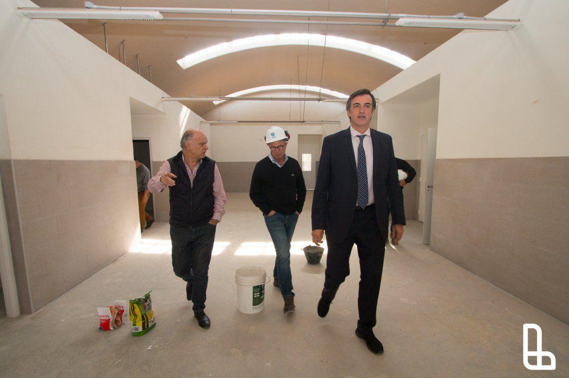 Grindetti y Bullrich recorrieron el avance de las obras del Puente Olímpico