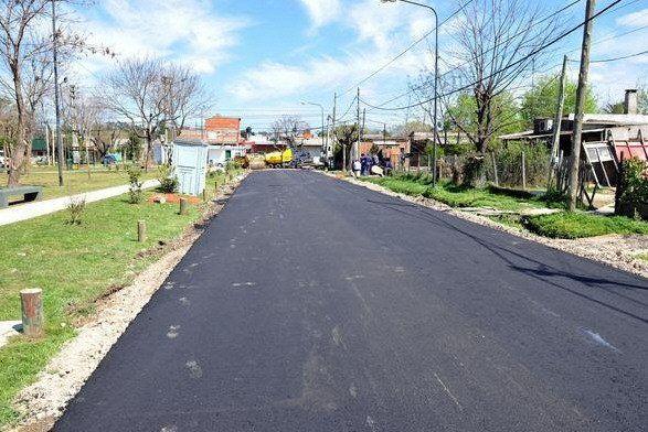 Nuevas obras de asfalto en más localidades de Tigre