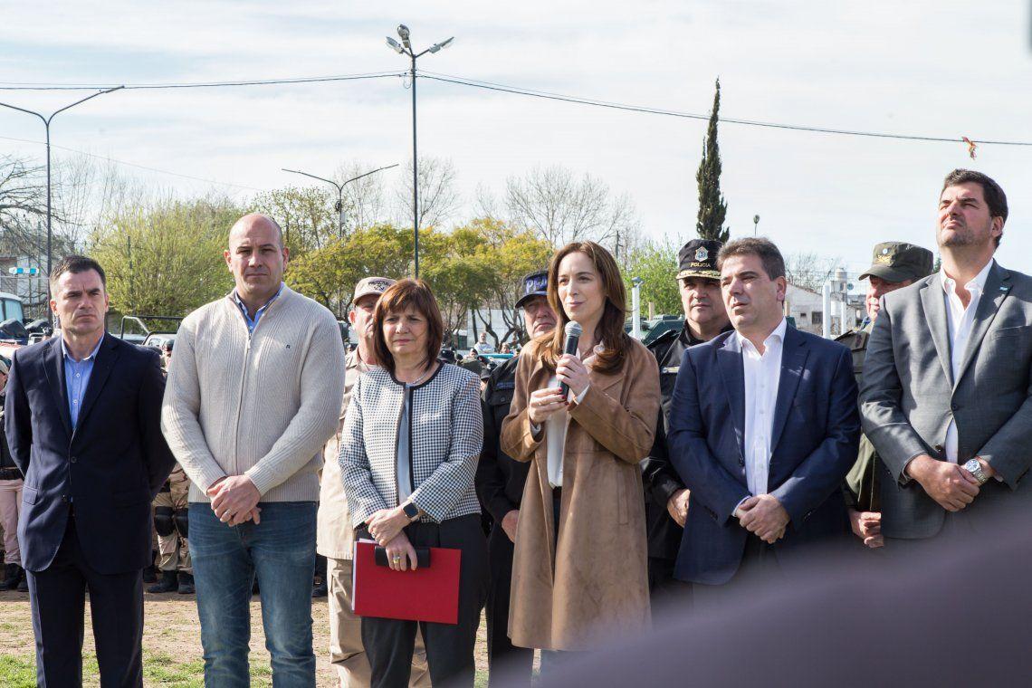 Vidal y Bullrich anunciaron refuerzo para operativos policiales
