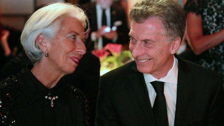Macri y Lagarde compartieron una cena de gala en Nueva York