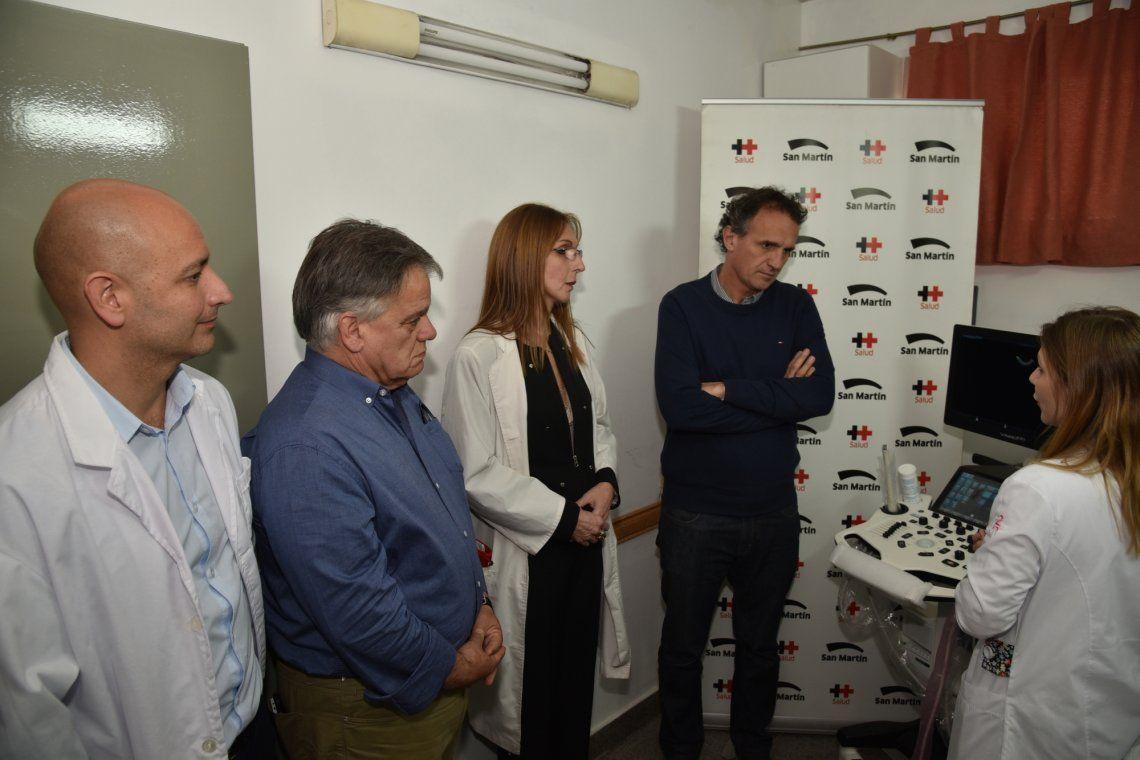 San Martín: nuevos ecógrafos para los hospitales Marengo y Fleming