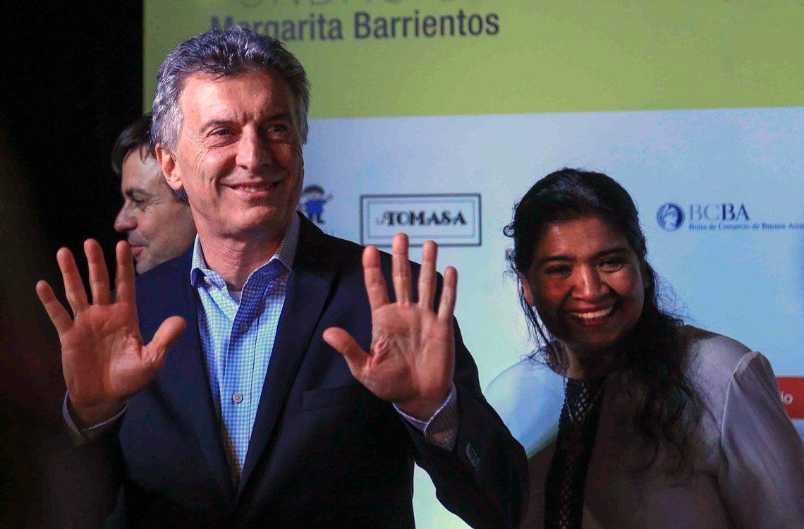 Macri sorprendió en una cena solidaria en La Rural