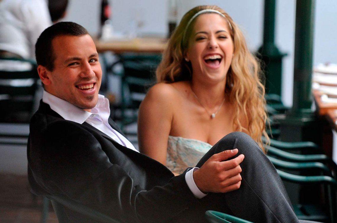 La flamante pareja de Cristian Ogro Fabbiani y Vicky Vannucci allá por el año 2009