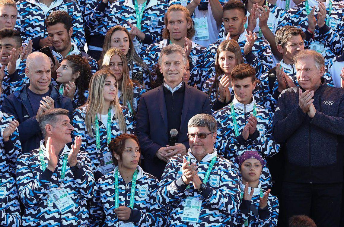 Juegos de la Juventud 2018: la delegación argentina entró a la Villa Olímpica con la arenga de Macri