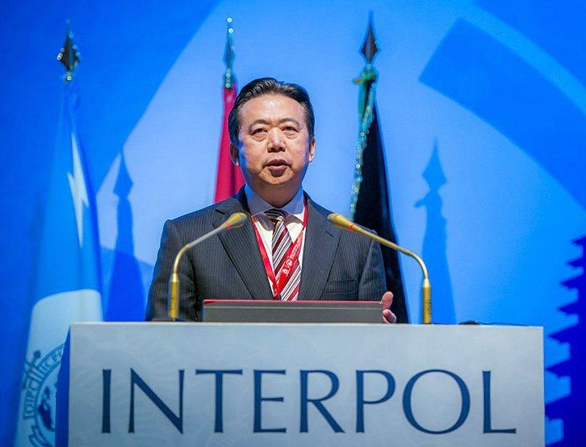 China acusa al expresidente de Interpol de aceptar sobornos
