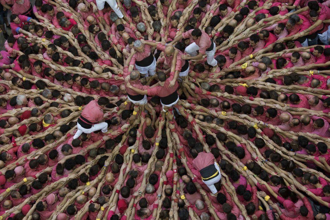 Las impactantes fotos de las Torres Humanas de Cataluña