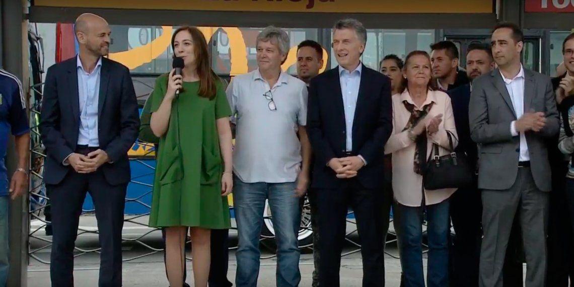 Macri y Vidal inauguraron el Metrobus del Oeste en Morón: Sé que hay que ajustarse para llegar a fin de mes