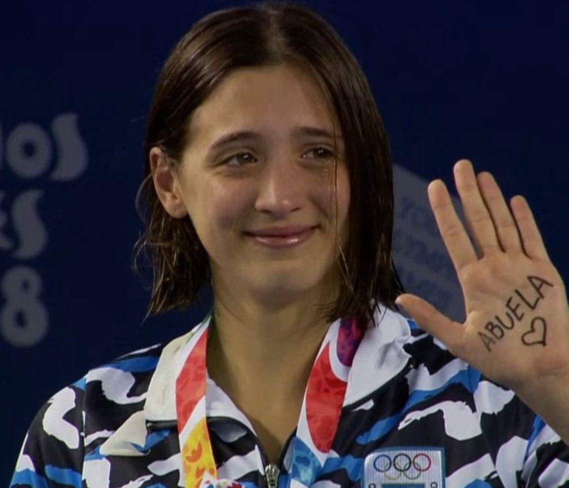 Juegos de la Juventud: la emotiva dedicatoria de Delfina Pignatiello a su abuela tras ganar la medalla de plata