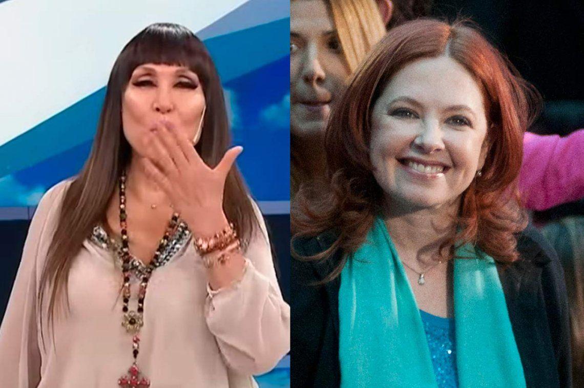 Moria Casán se enojó con Andrea del Boca porque va a lo de Mirtha