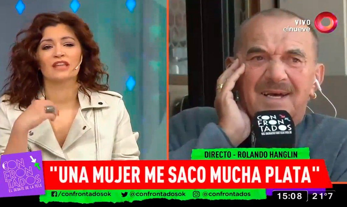 VIDEO I Rolando Hanglin se desubicó con Carla Conte y lo sacaron del aire
