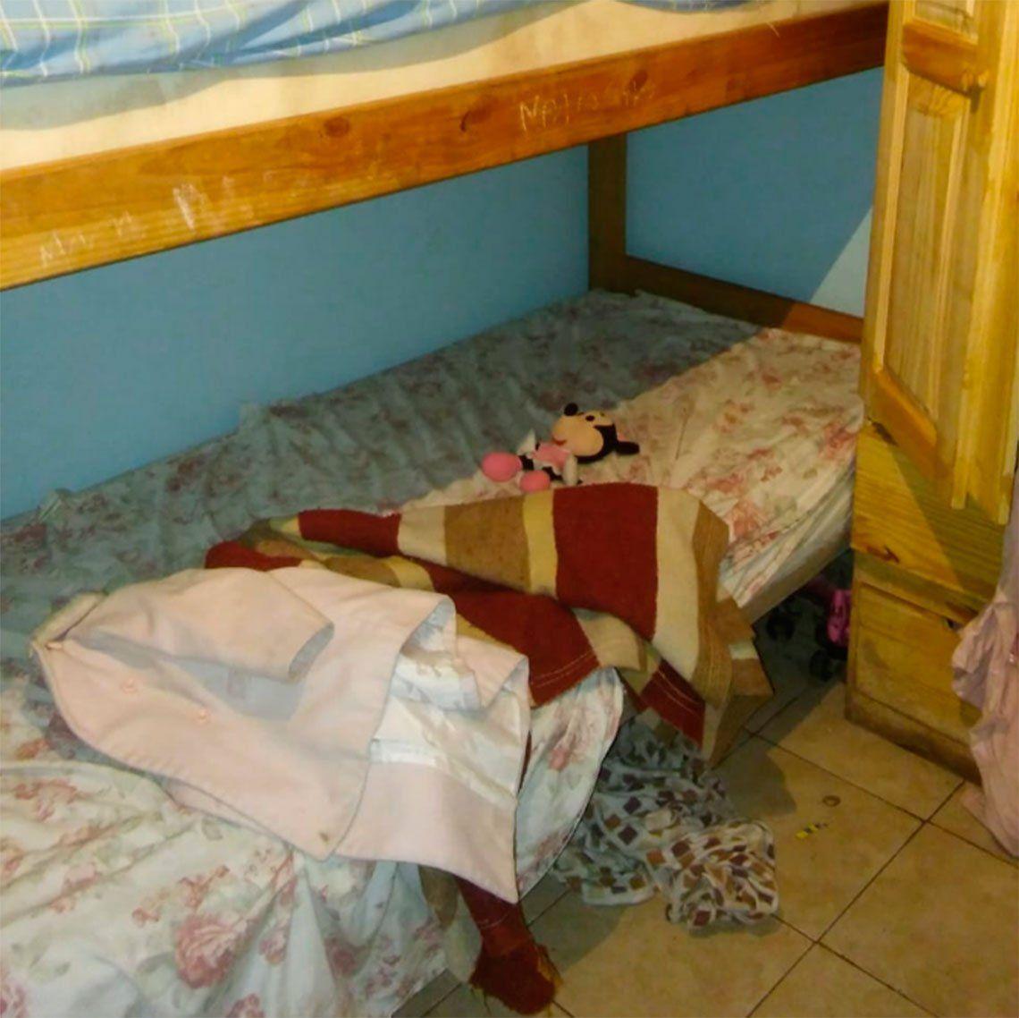 Habitación donde encontraron a Naiara