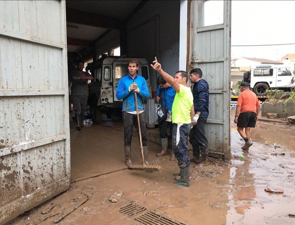 Rafael Nadal ayudó a afectados por el temporal en Mallorca