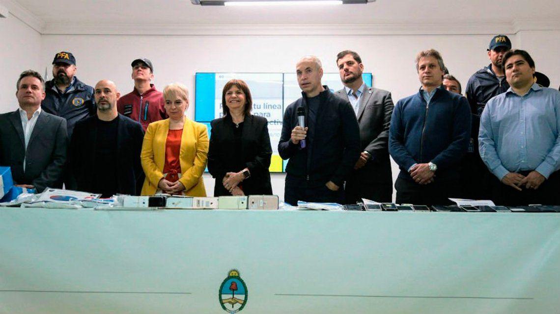 Bullrich y Larreta presentaron campaña de nominatividad para usuarios de celulares prepagos