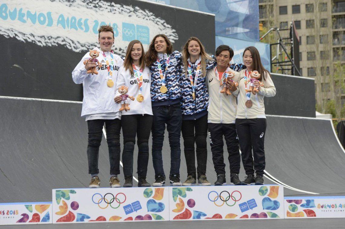 Medalla de oro para Agustina Roth e Iñaki Iriartes Mazza en BMX Freestyle