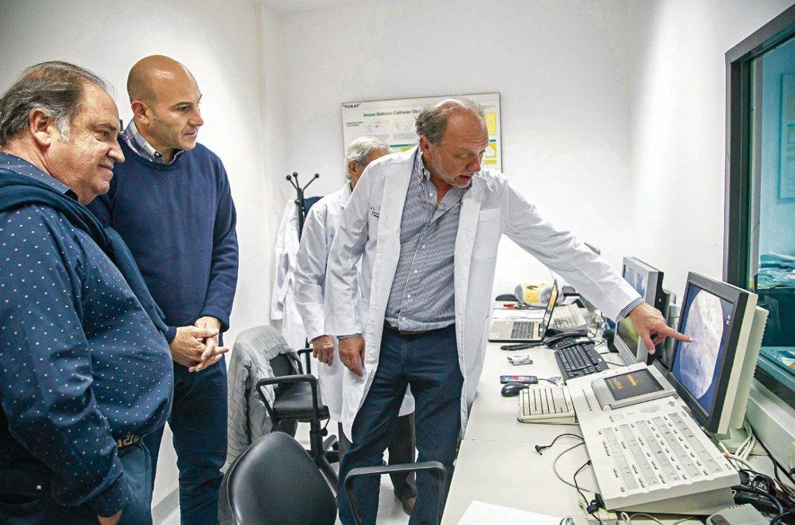 dMolina dialogó con las autoridades y recorrió las instalaciones del hospital.