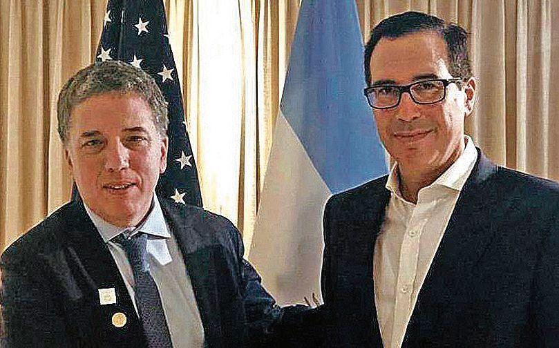 dDujovne se reunió con el secretario del Tesoro yanqui