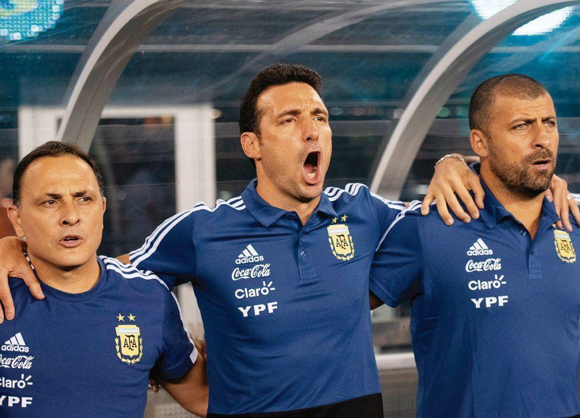 Lionel Scaloni lleva tres partidos al frente de la Selección Argentina: consiguió dos triunfos (Guatemala e Irak) y un empate (Colombia).