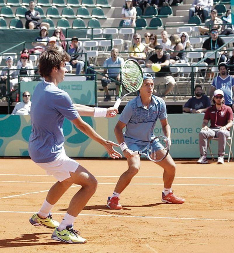 Díaz Acosta y Báez apuntan a lo máximo en dobles en tenis