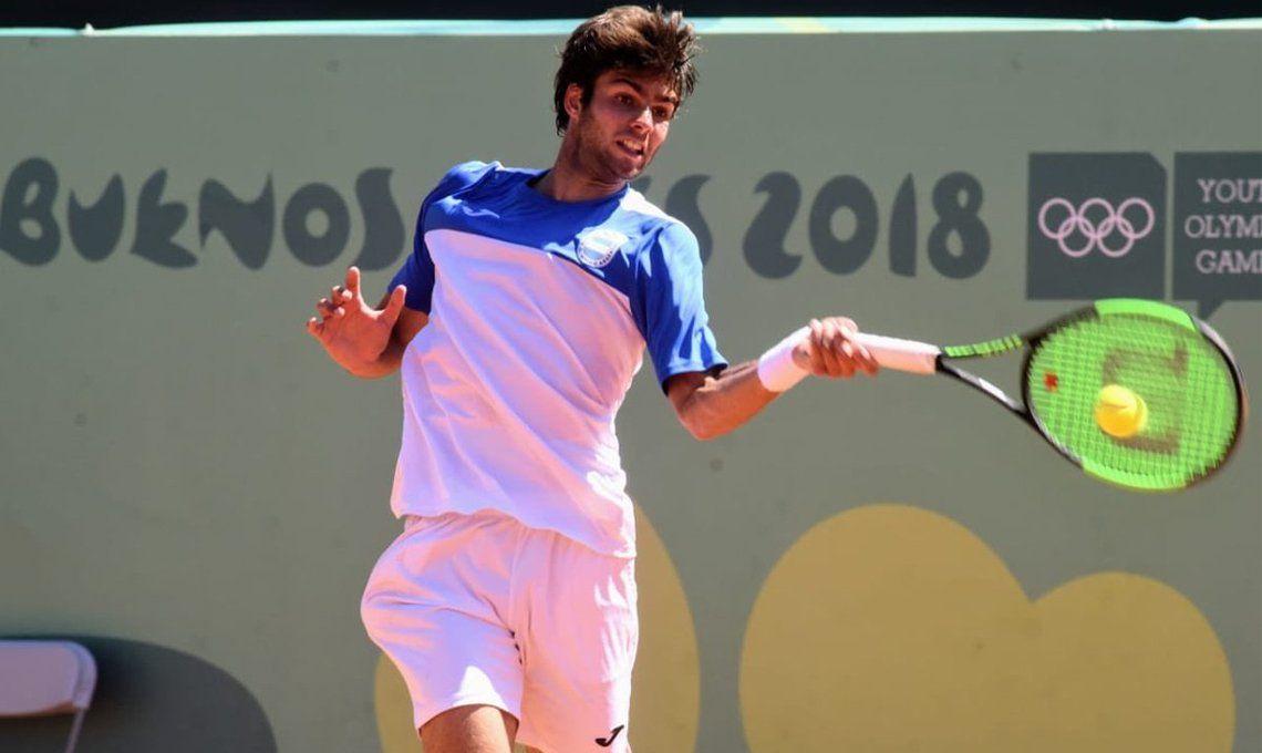 Buenos Aires 2018: Facundo Díaz Acosta perdió ante francés Gaston y se quedó con la medalla plateada en el tenis